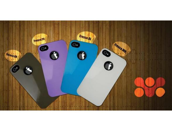 Ультратонкий пластиковый чехол Promate для iPhone 4 (Fresco.GR) серый