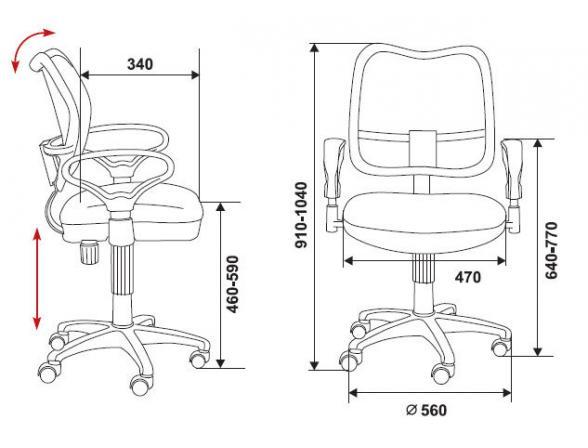 Кресло BURO CH-799/GR/TW-12