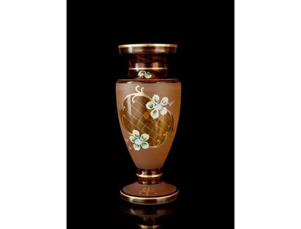 Ваза Crystal Art LIH, 30 см (янтарь)
