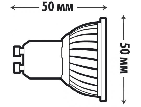 Светодиодная лампа X-flash Spotlight MR16 GU10  4 Вт, жёлтый/матовый рассеиватель 43057