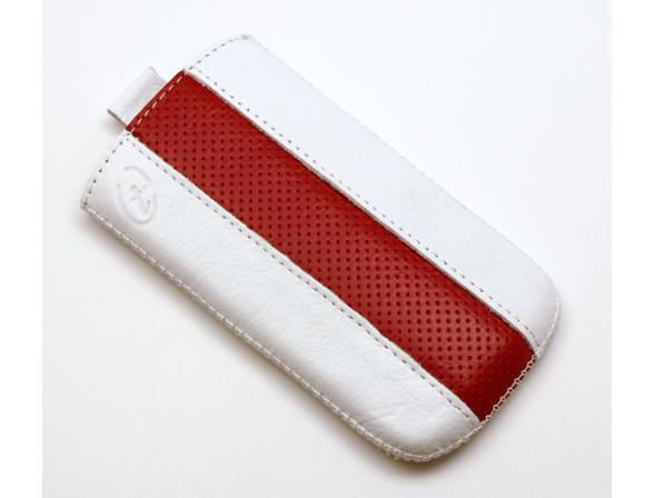 Чехол Time с ремешком комбинированный HTC Sensation XL белый с красным