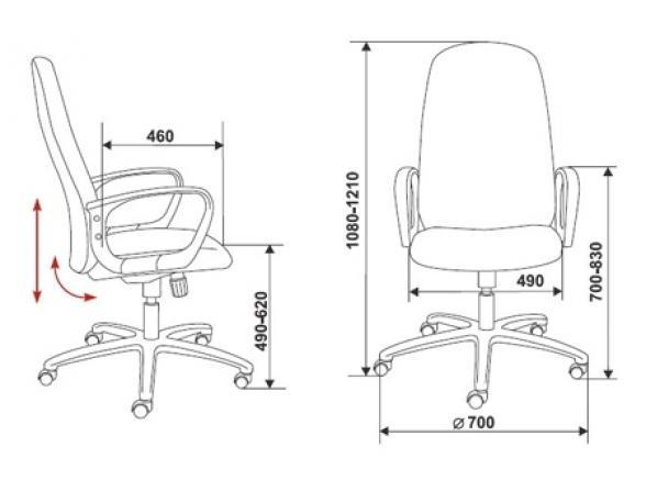 Кресло руководителя BURO Ch-808AXSN/Bl&Blue