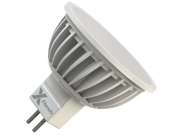 Светодиодная лампа X-flash Spotlight MR16 GU5.3 5 Вт, жёлтый/матовый рассеиватель 43033