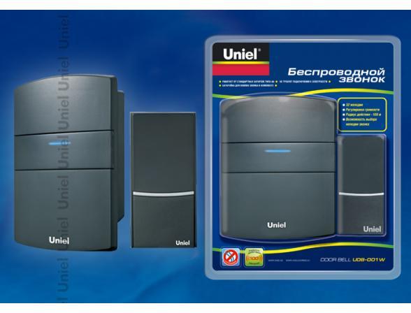 Звонок беспроводной Uniel UDB-001W-R1T1-32S-100M-BL