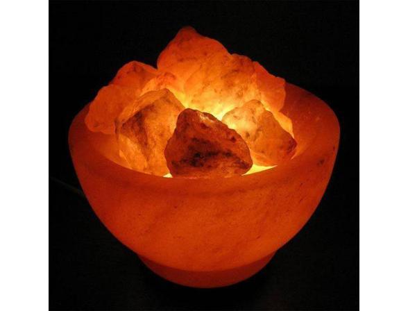 Солевая лампа ZENET Чаша с кристаллами