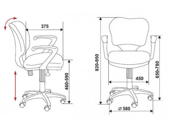 Кресло BURO CH-540AXSN-Low/26-28