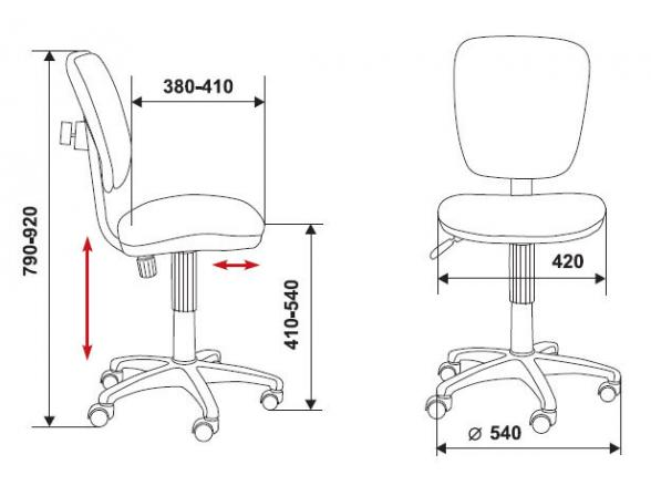 Кресло без подлокотников BURO CH-204NX/26-22
