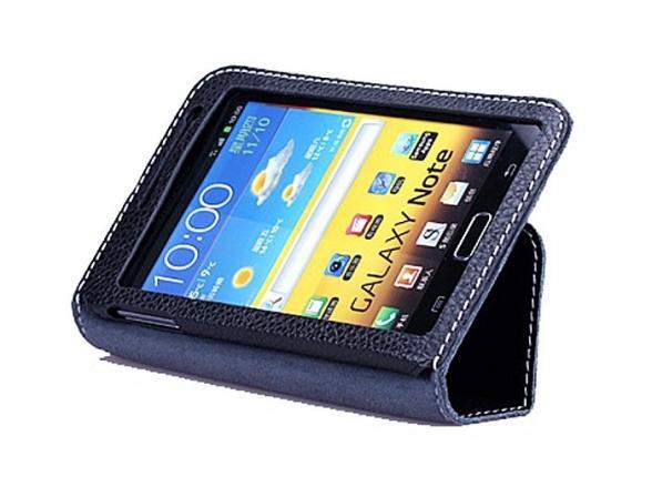Чехол Yoobao LCSamNote-EBK Executive leather case for Samsung Galaxy Note i9220 (black)