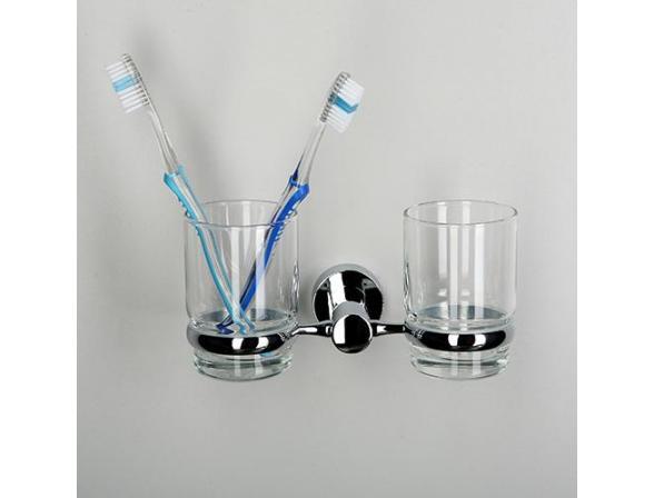 Подстаканник WasserKRAFT Donau с 2 стаканами, K-9428D