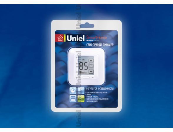 Сенсорный диммер Uniel USW-001-LCD-DM-40/500W-TM-M-WH