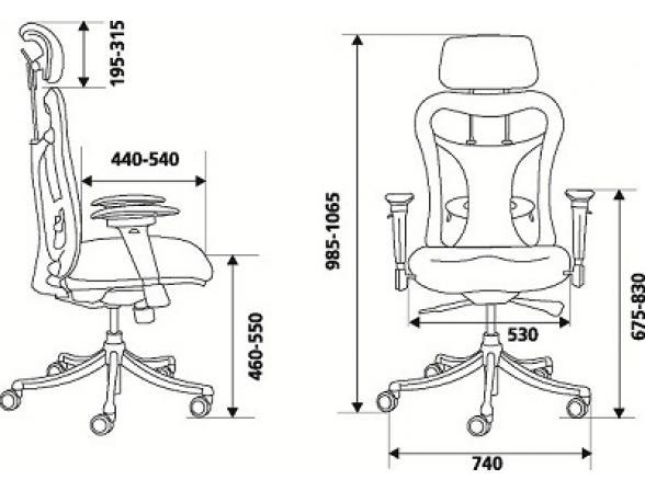 Кресло руководителя BURO CH-999AXSN