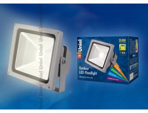 Прожектор Uniel ULF-S01-30W/WW IP65 110-240В