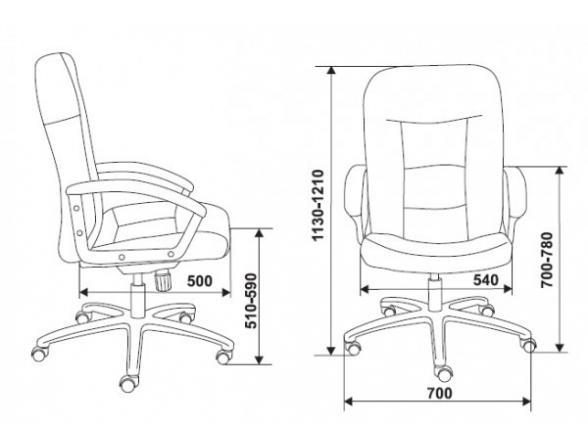 Кресло руководителя BURO T-9908AXSN-Black