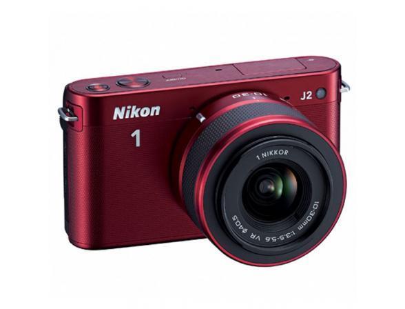 Цифровой фотоаппарат Nikon 1 J2 kit 10–30mm VR Red