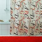 Штора для ванной Bacchetta 180х200 Lettere