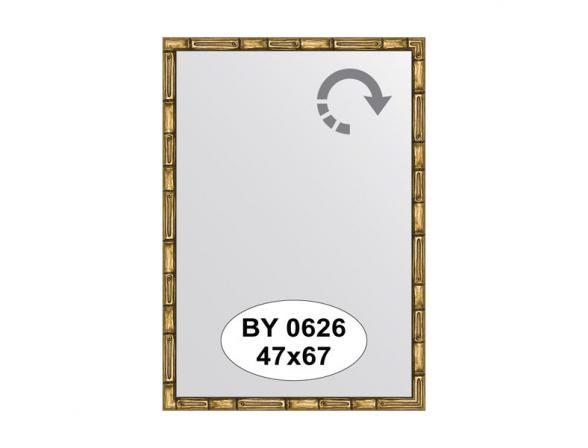 Зеркало в багетной раме EVOFORM золото/бамбук (47х67 см) BY 0626