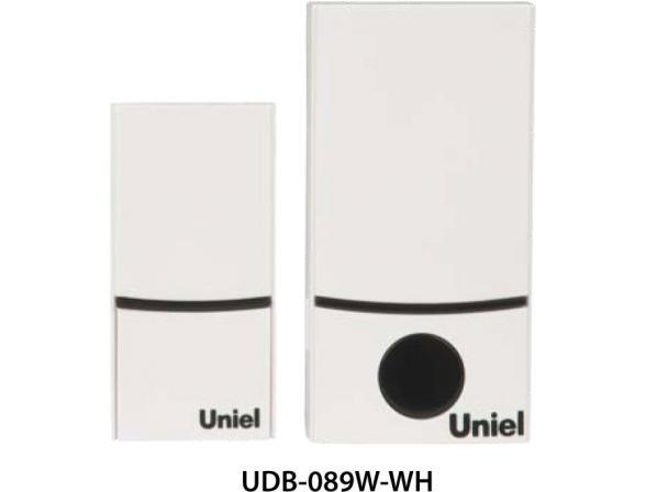 Звонок беспроводной Uniel UDB-089W-R1T1-32S-100M-WH