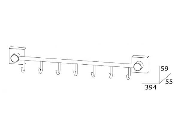 Держатель с 7-ю крючками FBS ESPERADO 40 см ESP 028