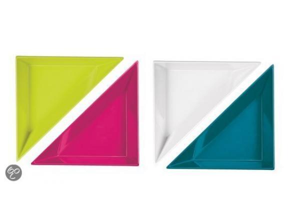 Набор треугольных тарелочек ZAK Aqua 4 шт. 2008-0721