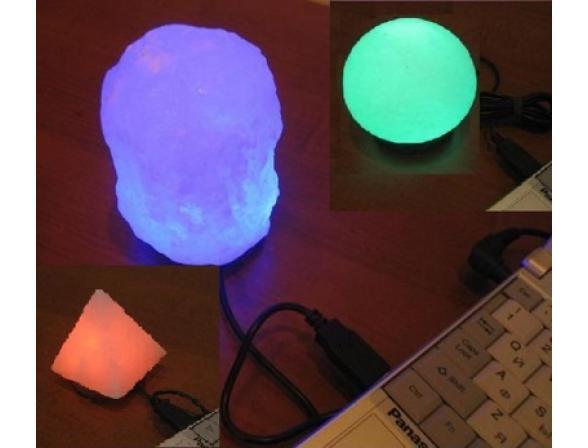 Солевая лампа ZENET MINI USB LAMP (7 цветов)