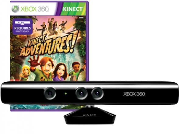 Сенсор Microsoft Kinect для XBOX 360 + Игра Kinect Adventures