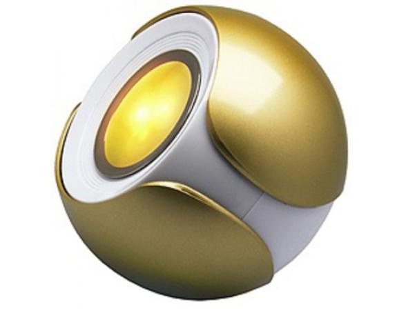 Декоративный светильник ЭРА 626924 Magic colours BGold-3
