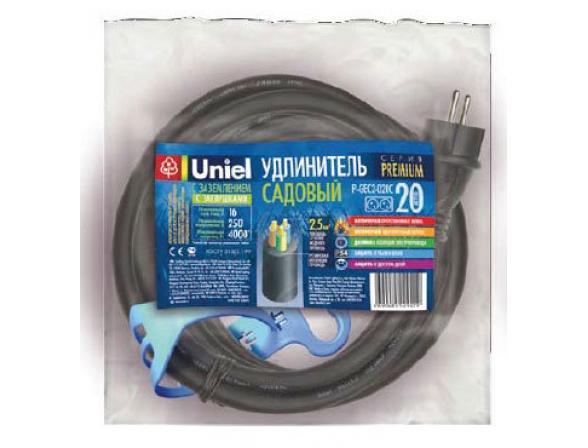 Удлинитель садовый с заземлением Uniel P-GEC2-020C