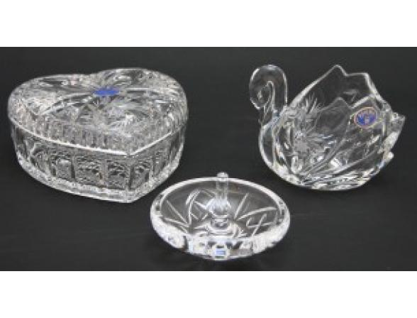 Набор для дам Crystalite Bohemia Heritage*3 Шкатулка/конфетница/подставка для колец (498)