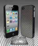 Защитный карбоновый чехол Promate для iPhone 4 (Viper+.SL) светло-серый