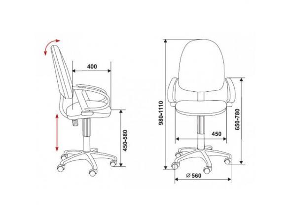 Кресло BURO CH-300AXSN/B