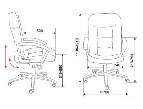 Кресло руководителя BURO T-9908AXSN/MF110