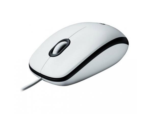 Мышь Logitech M100 optical USB, white