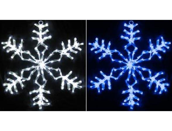 Снежинка светодиодная Rich LED мерцающая, 40 см, цвет: синий