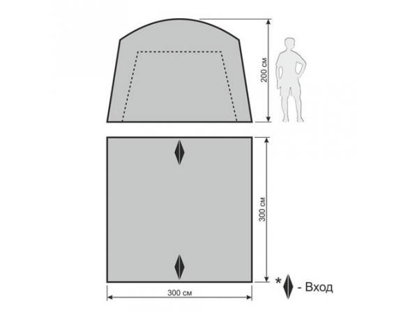 Тент-шатер Maverick Fortuna 350