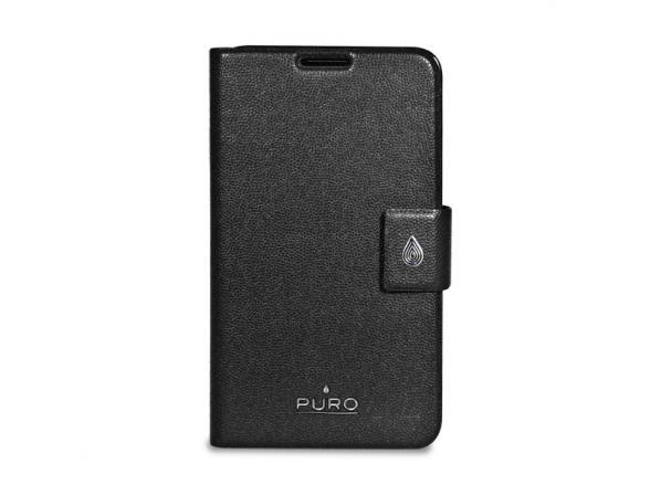 PURO Booklet Horizontal Flip для Samsung Note, (эко-кожа, стикер 3М, черный)