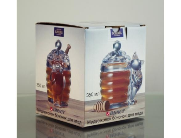 Емкость для меда Crystalite Bohemia Медвежонок