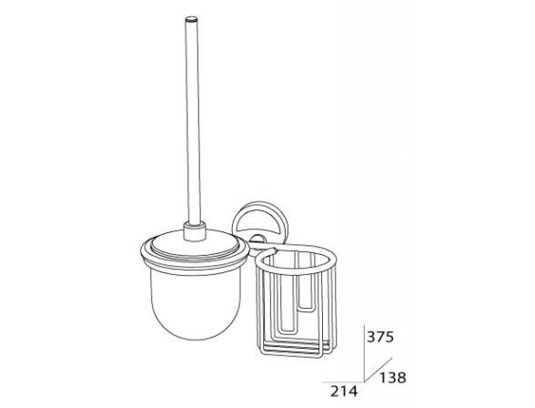 Комплект для туалета и держатель освежителя с крышкой FBS ELLEA ELL 059