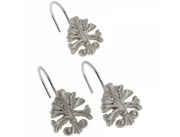 Набор из 12 крючков для шторки CARNATION Fleur di Lis Silver