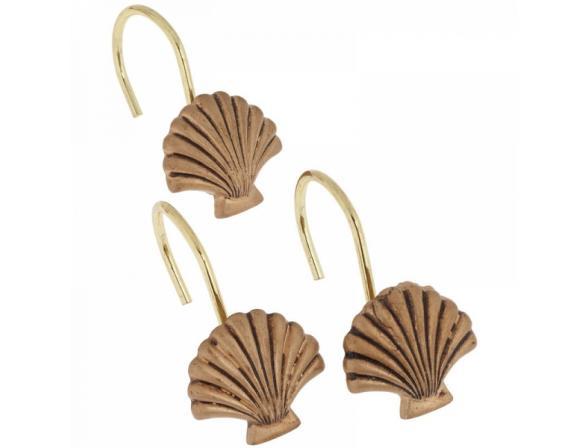 Набор из 12 крючков для шторки CARNATION Seaside Gold