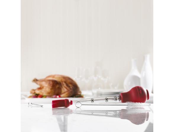 Дозатор силиконовый для жидких приправ, масел Trudeau цвет: красный