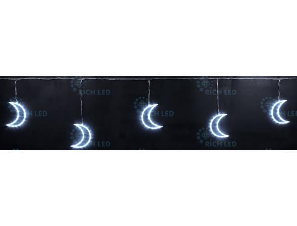 Светодиодные подвески Rich LED Луны 3*0.5 м, цвет: белый. Прозрачный провод.