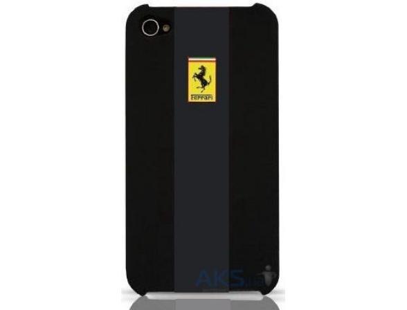 Чехол Ferrari для iPhone 4/4s Hard Case Rubber Touch (черный)