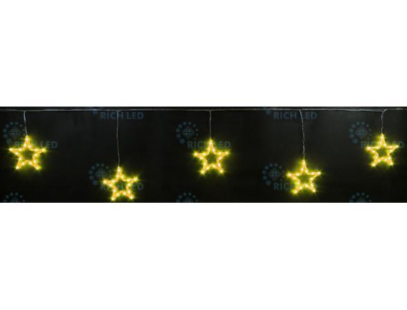 Светодиодные подвески Rich LED Звезды 3*0.5 м, цвет: Прозрачный провод.