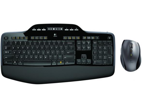 Комплект клавиатура+мышь Logitech Wireless Desktop MK710 Black-Silver USB