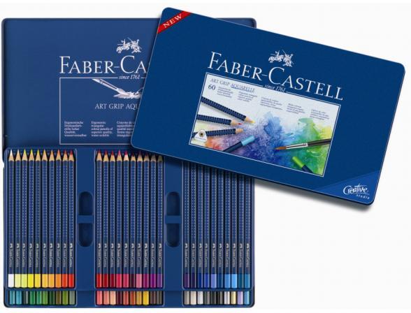 Акварельные карандаши Faber Castell ART GRIP AQUARELLE 60 цветов