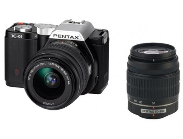 Зеркальный фотоаппарат Pentax K-01 Kit DA L 18-55 + DA L 50-200