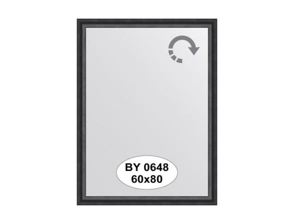 Зеркало в багетной раме EVOFORM дуб черный (60х80 см) BY 0648
