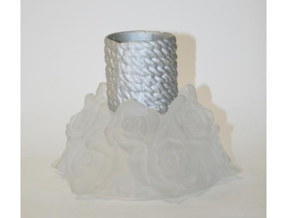 Подсвечник Crystalite Bohemia Роза фрост,  16,5 см 72E13