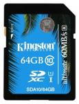 Флэш память Kingston 64 Gb SDHC Card Class 10 UHS-I Ultimate