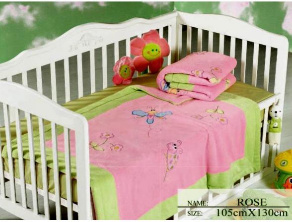 Плед для новорожденных ARYA Rose 105х130